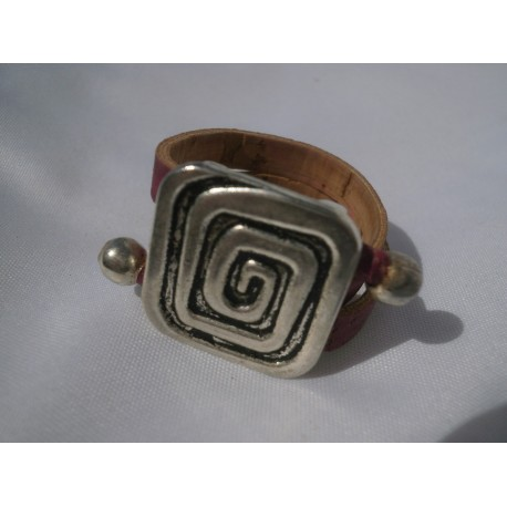 Bague spirale carrée acier