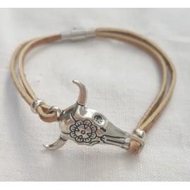 Bracelet taureau en liège