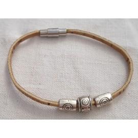 Bracelet liège petites perles