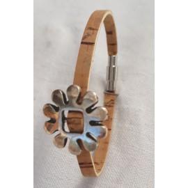 Bracelet liège marguerite