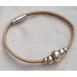 Bracelets perles croissantes