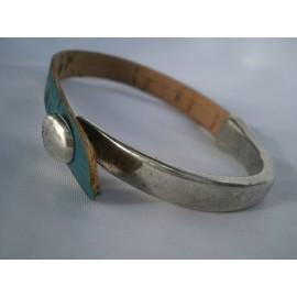 Bracelet demi metal et demi cordon liège