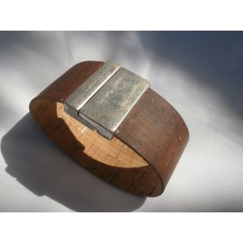 Bracelet cordon liège attache aimant 30mm