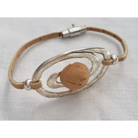 Bracelet liège spirale