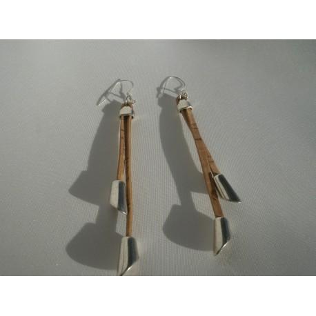Boucles d'oreille liège et acier3