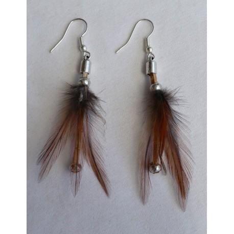 Boucles d' oreilles plumes 1