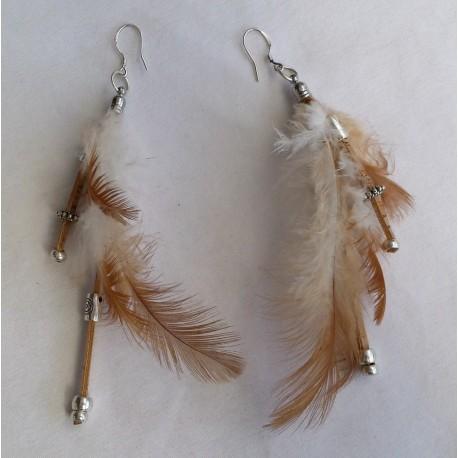 Boucles d' oreilles plumes 2