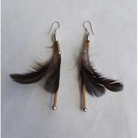 Boucles d' oreilles plumes 4