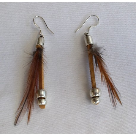 Boucles d' oreilles plumes 5