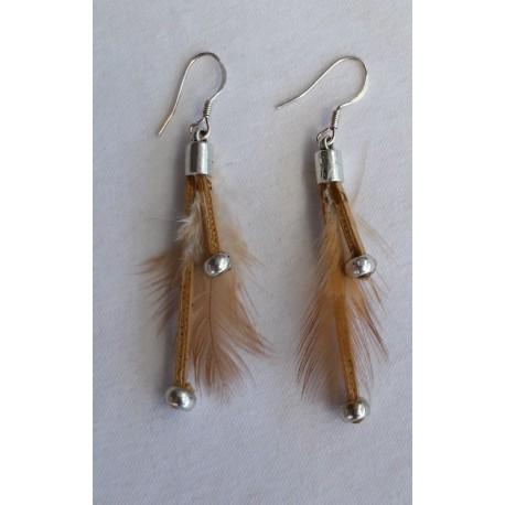 Boucles d' oreilles plumes 7
