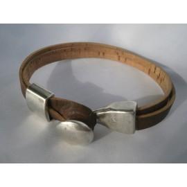 Bracelet liège fremoir bouton