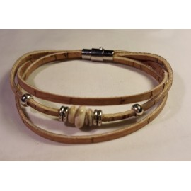 Bracelet triple perles blanches 1